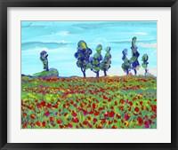Framed 6 Poppy Field
