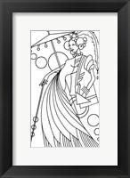 Framed Art Deco Lady 3