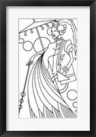 Framed Art Deco Lady 3
