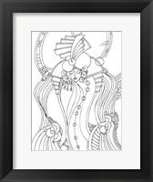 Framed Art Deco Lady