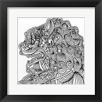 Framed Asian Lion