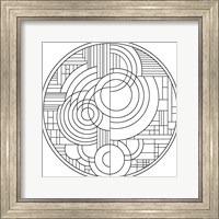 Framed Pop Art Deco Circles 1