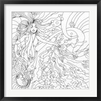 Framed Siren Lineart