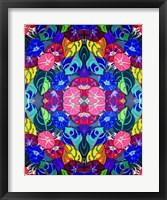 Framed Pop Art Flowers Kalidescope