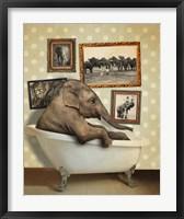 Framed Elephant In Tub