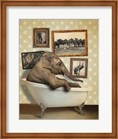 Framed Elephant In Tub