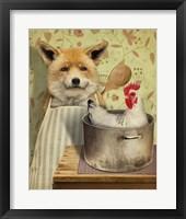 Framed Fox And Chicken