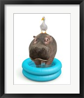 Framed Hippo And Duck