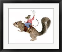 Framed Squirrel Rodeo