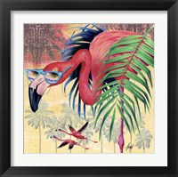 Framed Cool Flamingoes