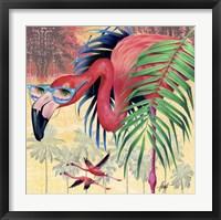 Framed Cool Flamingoes