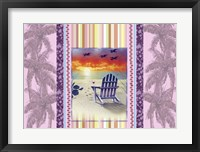 Framed Sunset Chair Palm