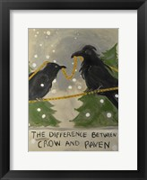 Framed Difference Between Crow And Raven