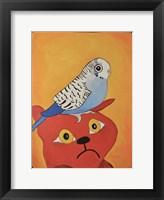 Framed Cat Bird