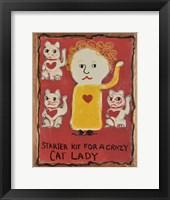 Framed Cat Lady