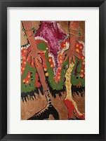 Framed Fridas Legs Gold
