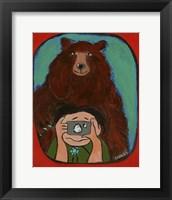Framed Smile Brown Bear