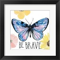 Framed Beautiful Butterfly IV