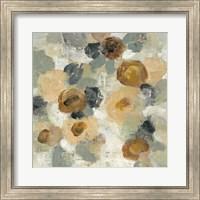 Framed Neutral Floral Beige III