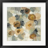 Framed Neutral Floral Beige III