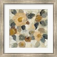 Framed Neutral Floral Beige II