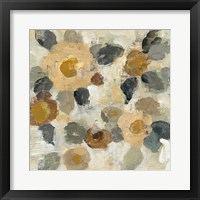 Framed Neutral Floral Beige II