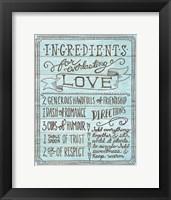 Framed Ingredients for Life III Blue