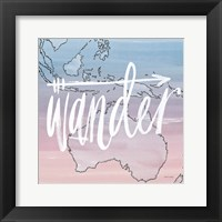 World Traveler Wander Framed Print