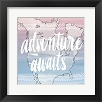 World Traveler Adventure Awaits Framed Print