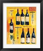 Framed Red Wine Collage