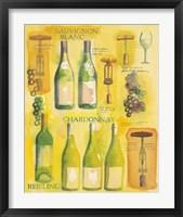 Framed White Wine Collage