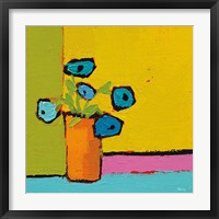 Framed Orange Vase Bright