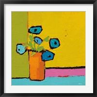 Framed Orange Vase Bright