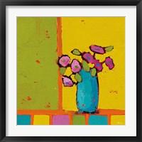 Framed Turquoise Vase Bright