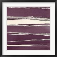 Framed Silver Rose II Purple