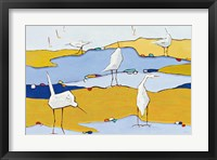 Framed Marsh Egrets VI