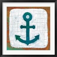 Framed Ahoy III Red Blue