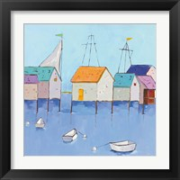 Framed Boat House Row