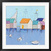 Framed Boat House Row