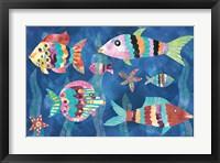 Framed Boho Reef Fish III
