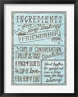 Framed Ingredients For Life IV Blue