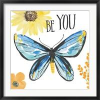 Framed Beautiful Butterfly III