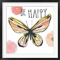 Framed Beautiful Butterfly II