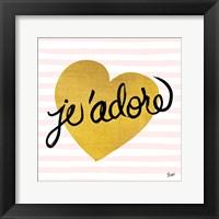 Framed Jadore Black and Gold
