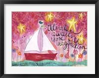 Framed Adventure Awaits - Sailboat