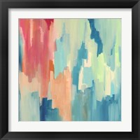 Framed Color Theory Abstract