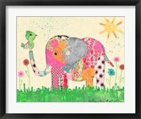 Framed Mosaic Elephant
