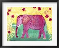 Framed Pink Elephant
