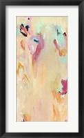 Framed Tangerine Mist - Abstract