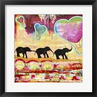 Framed Elephant Walk